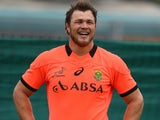 Duane Vermeulen during the South African national rugby team training session at Peoples Park on September 01, 2015