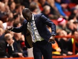 Manager of Huddersfield Town Chris Powell celebrates as Huddersfield score thie first goal during the Sky Bet Championship match between Charlton Athletic and Huddersfield Town at The Valley on September 15, 2015