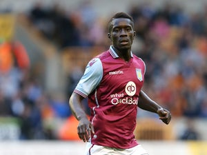Idrissa Gueye of Aston Villa looks on during the pre season friendly between Wolverhampton Wanderers and Aston Villa at Molineux on July 28, 2015