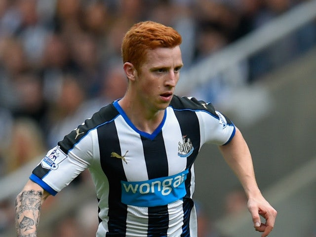 Jack Colback of Newcastle United in action during the Barclays Premier League match between Newcastle United and Southampton at St James Park on August 9, 2015 in Newcastle, England.