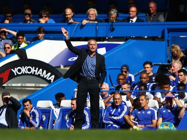 Jose Mourinho gestures from the sideline during the game between Chelsea and Arsenal on September 19, 2015