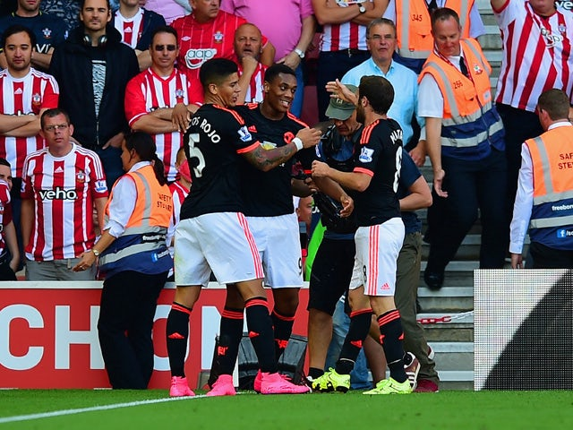 Result: Martial double helps United to victory