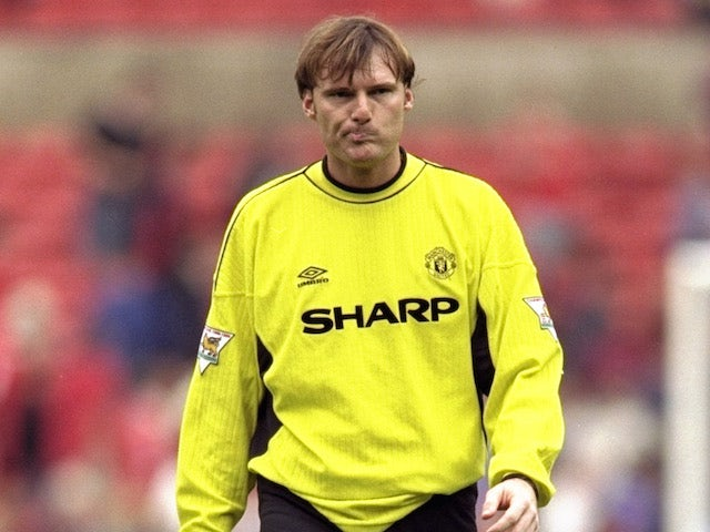 Massimo Taibi of Manchester United before the FA Carling Premiership match against Southampton played at Old Trafford in Manchester, England. The game ended in a 3-3 draw.