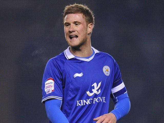 Matt Mills in action for Leicester in August 2012