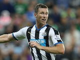 Mike Williamson of Newcastle United in action during the Capital One Cup Second Round between Newcastle United and Northampton Town at St James' Park on August 25, 2015 in Newcastle upon Tyne, England.
