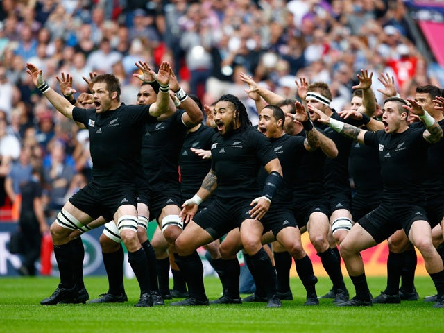 Ritchie McCaw of New Zealand leads the Haka during the 2015 Rugby World Cup Pool C match between New Zealand and Argentina at Wembley Stadium on September 20, 2015