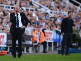 Steve McClaren manager of Newcastle United looks on during the Barclays Premier League match between Newcastle United and Watford at St James' Park on September 19, 2015 in Newcastle upon Tyne, United Kingdom.
