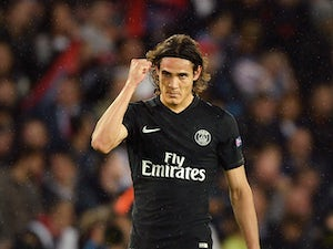 Cavani nets four as PSG hit Caen for six