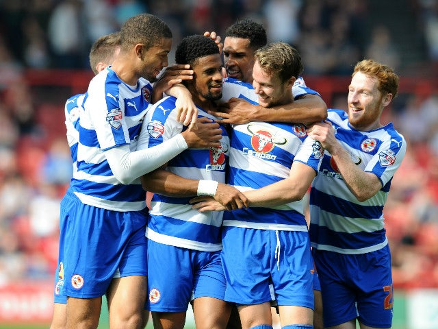 Garath McCleary of Reading celebrates scoring his side's second goal during the Sky Bet Championship match between Bristol City and Reading at Ashton Gate on September 19, 2015 in Bristol, England.