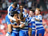 Garath McCleary of Reading celebrates scoring his side's second goal during the Sky Bet Championship match between Bristol City and Reading at Ashton Gate on September 19, 2015