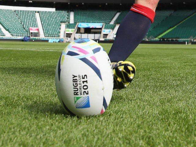 A Rugby World Cup 2015 ball at Twickenham on September 17, 2015