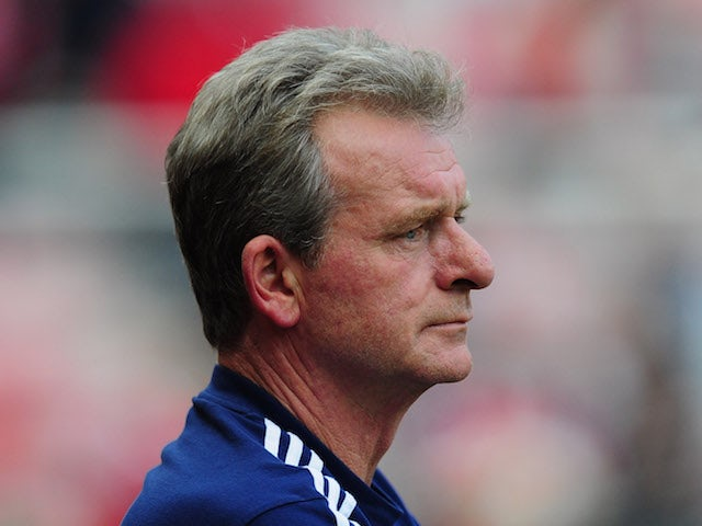 Sunderland coach Steve Walford looks on before the Barclays Premier league match between Sunderland and Liverpool at Stadium of Light on September 15, 2012 in Sunderland, England.