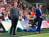 Garry Monk Manager of Swansea City looks on during the Barclays Premier League match between Swansea City and Everton at the Liberty Stadium on September 19, 2015 in Swansea, United Kingdom.