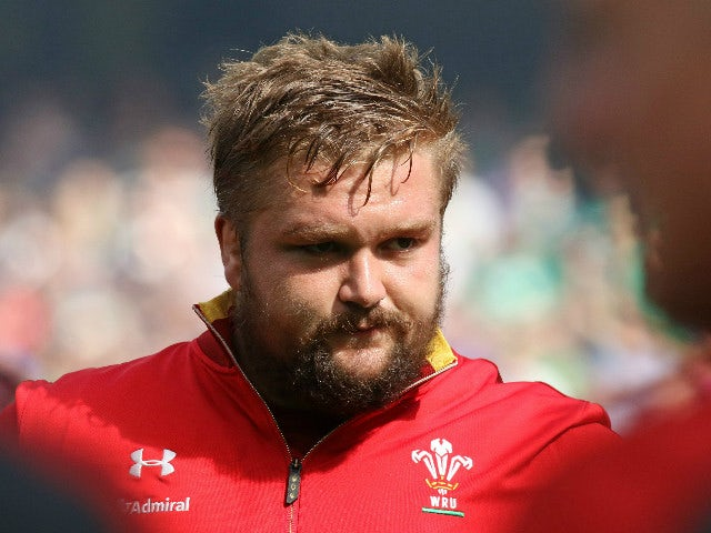 Wales's prop Tomas Francis lines up ahead of the 2015 Rugby World Cup warm up match between Ireland and Wales at the Aviva Stadium in Dublin, Ireland on August 29, 2015.