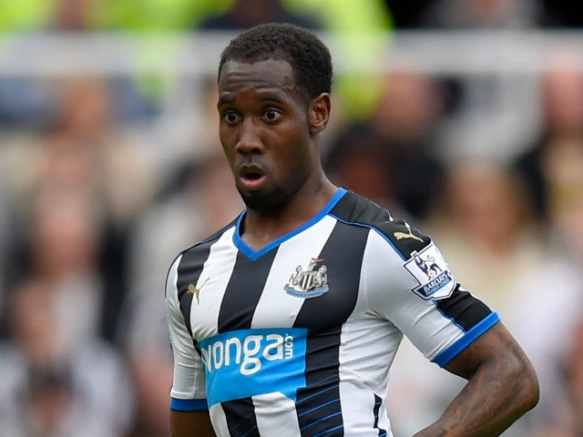 Newcastle player Vurnon Anita in action during the Barclays Premier League match between Newcastle United and West Ham United at St James' Park on May 24, 2015 in Newcastle upon Tyne, England