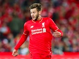 Adam Lallana of Liverpool FC looks to pass the ball during the international friendly match between Adelaide United and Liverpool FC at Adelaide Oval on July 20, 2015