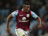 Adama Traore of Aston Villa in action during the Capital One Cup second round match between Aston Villa and Notts County at Villa Park on August 25, 2015