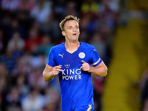 Andy King of Leicester City during the Pre Season Friendlly match between Lincoln City and Leicester City at Sincil Bank Stadium on July 21, 2015