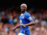 Arouna Kone of Everton in action during the Barclays Premier League match between Everton and Manchester City on August 23, 2015