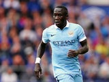 Bacary Sagna of Manchester City in action during the Barclays Premier League match between Everton and Manchester City on August 23, 2015