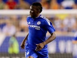 Bertrand Traore #14 of Chelsea takes the ball in the first half against the New York Red Bulls during the International Champions Cup at Red Bull Arena on July 22, 2015
