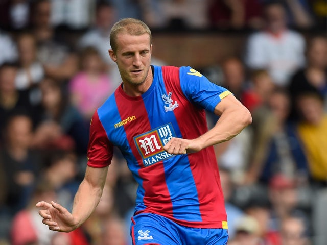 Brede Hangeland of Crystal Palace in action during a Pre Season Friendly between Fulham and Crystal Palace at Craven Cottage on August 1, 2015