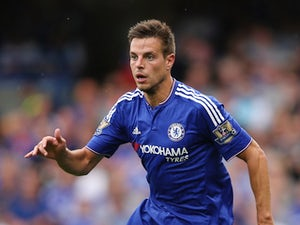 Cesar Azpilicueta of Chelsea in action during the Barclays Premier League match between Chelsea and Crystal Palace on August 29, 2015