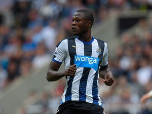 Chancel Mbemba of Newcastle United in action during the Barclays Premier League match between Newcastle United and Southampton at St James Park on August 9, 2015