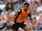 Chuba Akpom of Hull City during the Sky Bet Championship match between Hull City and Huddersfield Town at KC Stadium on August 8, 2015
