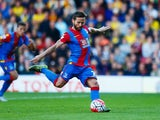Yohan Cabaye of Crystal Palace scores their first goal from a penalty during the Barclays Premier League match between Watford and Crystal Palace at Vicarage Road on September 27, 2015