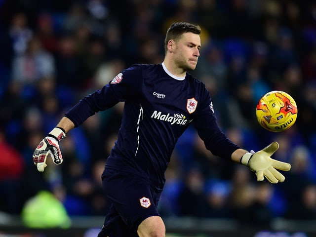David Marshall of Cardiff in action during the Sky Bet Championship match between Cardiff City and Blackburn Rovers at Cardiff City Stadium on February 17, 2015