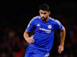 Diego Costa of Chelsea in action during the UEFA Champions League Group G match between Chelsea and Maccabi Tel-Aviv at Stamford Bridge on September 16, 2015