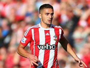 Dusan Tadic of Southampton in action during the Barclays Premier League match between Southampton and Swansea City at St Mary's Stadium on September 26, 2015 in Southampton, United Kingdom.