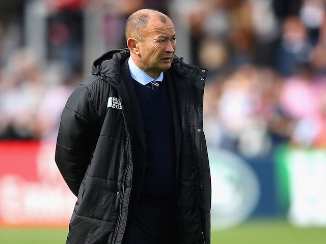 Japan head coach Eddie Jones ahead of the Rugby World Cup game with Scotland on September 23, 2015