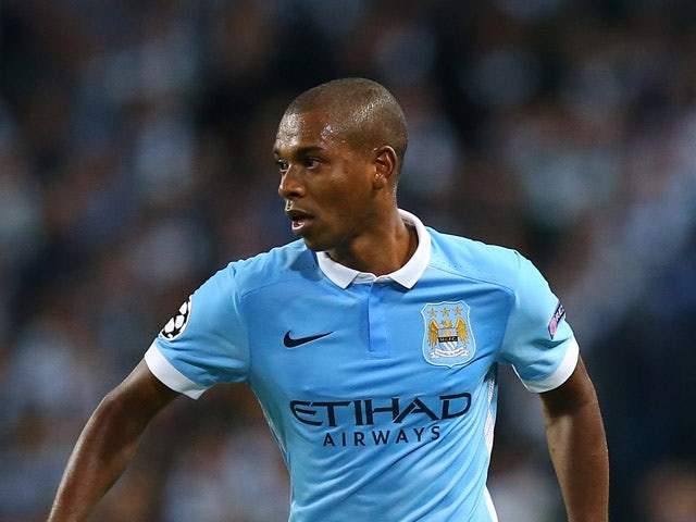 Fernandinho of Manchester City during the UEFA Champions League Group D match between Manchester City and Juventus at the Etihad Stadium on September 15, 2015