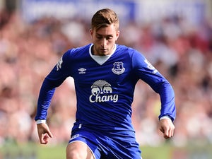 Gerard Deulofeu of Everton in action during the Barclays Premier League match between Swansea City and Everton on September 19, 2015 in Swansea, United Kingdom.