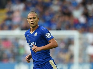 Gokhan Inler of Leicester City in action during the Barclays Premier League match between Leicester City and Tottenham Hotspur at The King Power Stadium on August 22, 2015