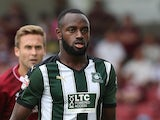 Hiram Boateng of Plymouth Argyle in action during the Sky Bet League Two match between Northampton Town and Plymouth Argyle at Sixfields Stadium on August 22, 2015