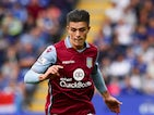 Jack Grealish of Aston Villa in action during the Barclays Premier League match between Leicester City and Aston Villa on September 13, 2015