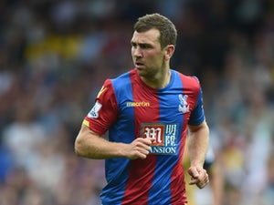 James McArthur of Palace looks on during the Barclays Premier League match between Crystal Palace and Arsenal on August 16, 2015