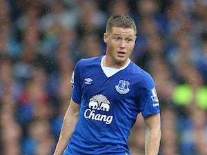 James McCarthy of Everton during the Barclays Premier League match between Everton and Manchester City at Goodison Park on August 23, 2015