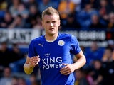 Jamie Vardy of Leicester City in action during the pre season friendly match between Mansfield Town and Leicester City at the One Call Stadium on July 25, 2015