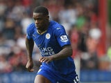 Jeffrey Schlupp of Leicester in action during the Barclays Premier League match between Bournemouth and Leicester City on August 29, 2015