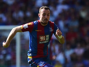 Jordon Mutch of Crystal Palace in action during the Barclays Premier League match between Crystal Palace and Aston Villa at Selhurst Park on August 22, 2015