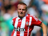 Jordy Clasie of FC Southampton runs with the ball during the friendly match between FC Groningen and FC Southampton at Euroborg Arena on July 18, 2015 in Groningen, Netherlands.