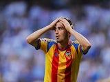 Jose Luis Gaya of Valencia CF reacts during the La Liga match between Real Madrid CF and Valencia CF at Estadio Santiago Bernabeu ended a 2-2 draw on May 9, 2015