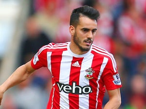 Juanmi of Southampton in action during the Barclays Premier League match between Southampton and Swansea City at St Mary's Stadium on September 26, 2015 in Southampton, United Kingdom.