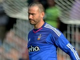 Goalkeeper Kelvin Davis of Southampton controls the ball during the friendly match between KVV Quick 1920 and FC Southampton at Sportpark De Vondersweijde on July 21, 2015 in Oldenzaal, Netherlands.