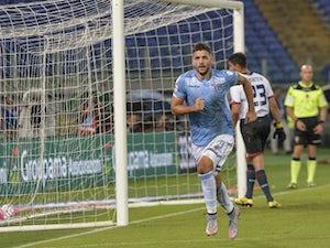 Lazio put two past nine-man Genoa