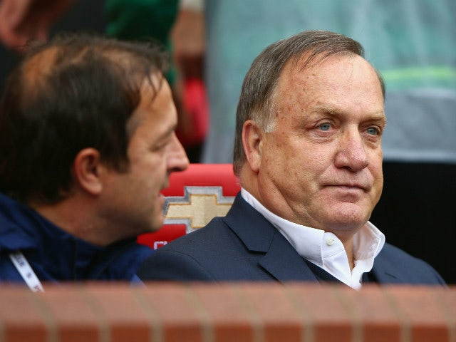 Dick Advocaat manager of Sunderland looks on prior to the Barclays Premier League match between Manchester United and Sunderland at Old Trafford on September 26, 2015 in Manchester, United Kingdom.